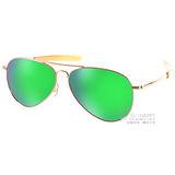 LEVIS 太陽眼鏡 時尚水銀鏡面偏光款(金-綠水銀) #LS91089 GOLD-Y