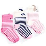 英國 JoJo Maman BeBe 柔細寶寶兒童短襪/棉襪 3入組 狐狸熊(JJS3-014)