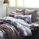 美夢元素 台灣製天鵝絨 天使 加大三件式床包組
