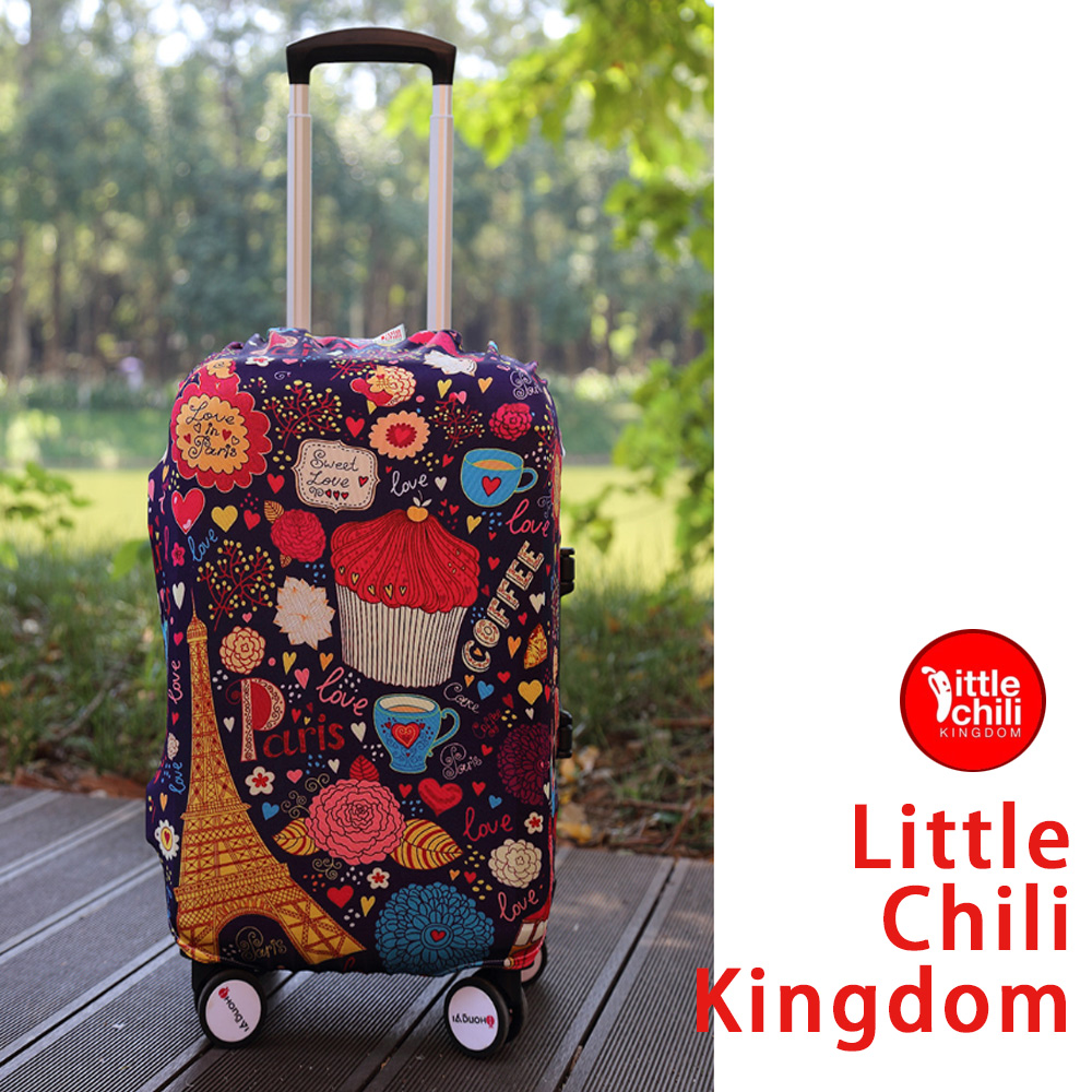 LittleChili行李箱套540-巴黎甜心L