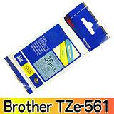 Brother TZe-561 護貝標籤帶 36mm 藍底黑字