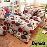 Daffodils《瓦映織圓》超保暖雪芙絨單人三件式被套床包組