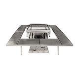 【OutdoorBase】歡樂野宴豪華組合-焰舞焚火台(L)搭配喜洋洋圍爐桌