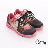 【Comphy】超輕漫步 渲染圖騰印刷透氣網布綁帶運動鞋-女款(粉紅)