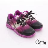 【Comphy】超輕漫步 渲染圖騰印刷透氣網布綁帶運動鞋-女款(紫)