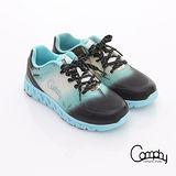 【Comphy】超輕漫步 渲染圖騰印刷透氣網布綁帶運動鞋-女款(淺藍)