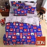 《DON漫遊倫敦》單人三件式蜜絲絨全舖棉兩用被床包組