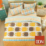 《DON柯基寶貝》雙人四件式蜜絲絨全舖棉兩用被床包組