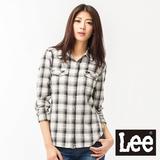 Lee 長袖襯衫-牛仔版格紋女款(米)