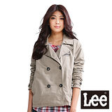 Lee 風衣外套 雙排扣防風外套-女款(卡其)