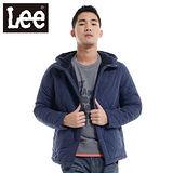 Lee 防風外套 連帽刷毛-男款(藍)