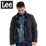 Lee 防風外套 兩面穿立領絨毛-男款(黑)