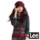 Lee 針織毛衣開扣長袖外套-女款(灰綠)