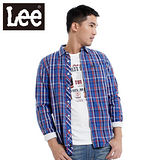 Lee 長袖襯衫 標準休閒襯衫-男款(藍) LL120108DYQ