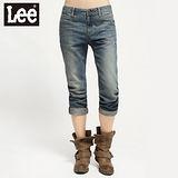 【Lee】401 Natasha 低腰標準窄腳9分牛仔褲 -女款(中漂藍)