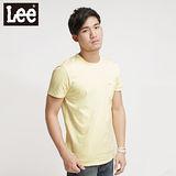 Lee浪花夏日Surf'N Roll素面短袖T恤 -男款 黃