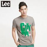 Lee浪花夏日Surf'N Roll植絨短袖T恤 -男款 灰綠