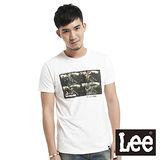 Lee 短袖T恤 彩色相印-男款(白)