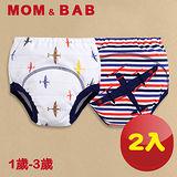 (購物車)【MOM AND BAB】戰鬥飛機三層防水 學習褲-兩入組(6~14公斤)
