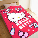 【享夢城堡】HELLO KITTY 生活小品 刷毛毯