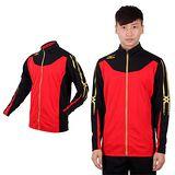 (男) MIZUNO SLIM FIT 運動外套 - 針織 立領 休閒外套 美津濃 紅黑