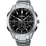 SEIKO 精工 Brightz 鈦金屬太陽能電波腕錶/43mm/8B92-0AA0D(SAGA197J)
