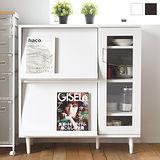 《Peachy life》日式木作手感高機能廚房櫃/下櫃/餐廚櫃/廚房架(兩色可選)