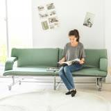 《Peachy life》五段式多功能折疊移動式沙發床/床架/和室椅(三色可選)