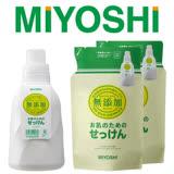 【日本MIYOSHI】無添加洗衣精-超值3件組(1瓶+2補充包)