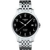 TISSOT 天梭 Le Locle 經典力洛克大三針機械錶/39.3mm/T41148352