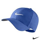 Nike(限量)復刻LOGO老帽可調整式素面運動帽(藍)727042-480