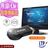 (LTP) 終極版Mircast 螢幕鏡射無線傳輸器YouTube 支援版(加送充電器)