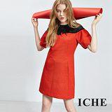 ICHE 衣哲 立體3D蕾絲提花拼接禮服洋裝