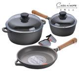 Berndes寶迪 木柄湯鍋20cm含蓋+雙耳鍋 24cm含蓋+煎鍋 24cm 升級版