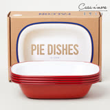 Falcon 琺瑯方形烤盤 20cm 4件組 深盤 方盤 餐盤 紅白