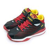 【大童】DIADORA KPU輕量籃球鞋 鯊魚概念系列 黑紅黃 3532