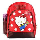 Hello Kitty 雙層透氣書包-紅色
