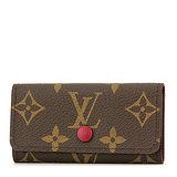 Louis Vuitton LV M60705 經典花紋四扣鑰匙包.紫紅 預購