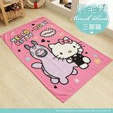 【伊柔寢飾】KITTY×RODY繽紛樂-三麗鷗刷毛毯/多功能毯/懶人毯/四季毯