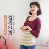 【BeautyFocus】冬季限定款多用途保暖帶/束腹帶-5301條紋咖啡