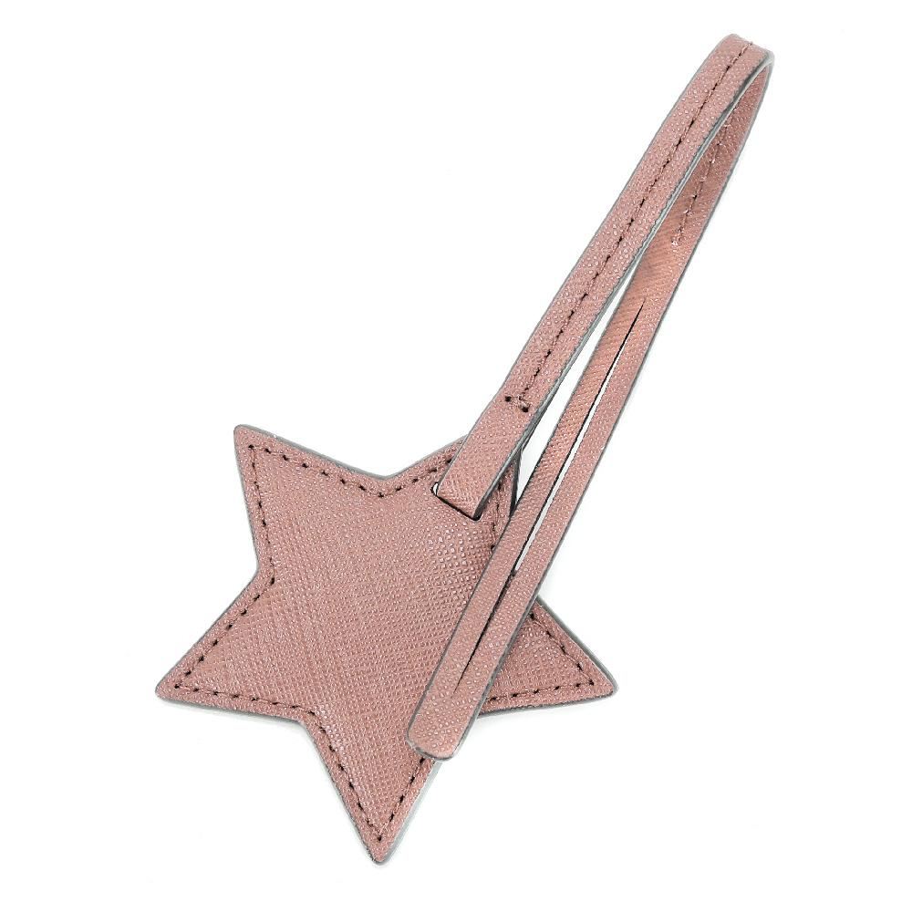 MICHAEL KORS 防刮皮革星星禮盒吊飾(粉膚)