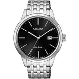 CITIZEN 星辰 簡約大三針光動能時尚腕錶/40mm/BM7301-57E