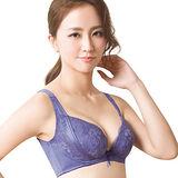 【思薇爾】柔挺美學系列B-F罩蕾絲背心式塑身內衣(楹花紫)