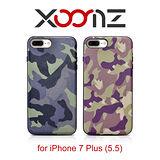 XOOMZ 迷彩系列 iPhone 8 Plus/7 Plus 三料合一 手工真皮保護套