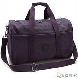 【法國盒子】休閒輕量尼龍大旅行袋(紫色)282