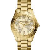 Michael Kors 晶鑽世界地圖時尚腕錶-金/42mm MK5959
