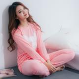 Wonderland LN167 PEOPLE MICKEY棉質居家休閒衣褲組(粉)