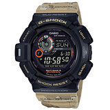 【CASIO 卡西歐】G-SHOCK 軍事迷彩三大感應器運動腕錶(50.8mm/GW-9300DC-1)