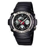 【CASIO 卡西歐】G-SHOCK 即刻任務雙顯時尚運動腕錶(46.4mm/AW-590-1A)
