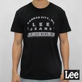 Lee 短袖T恤 文字印刷-男款-黑